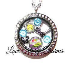 $29.99 Summer Jewelry Necklace Flip Flops Sun Bikini Floating Charms Origami Owl Stainless Floating Locket