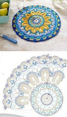 Transcendent Crochet a Solid Granny Square Ideas. Inconceivable Crochet a Solid Granny Square Ideas. Motif Mandala Crochet, Crochet Doily Patterns, Crochet Blocks, Crochet Diagram, Crochet Chart, Crochet Squares, Crochet Stitches, Thread Crochet, Crochet Designs