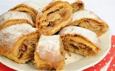 20-minutový jablečný závin – vynikající: Zaručeně nepraskne a chutná jako čerstvě upečený i třetí den! Sweet Cookies, Strudel, Apple Pie, Cornbread, Food And Drink, Baking, Breakfast, Cake, Ethnic Recipes