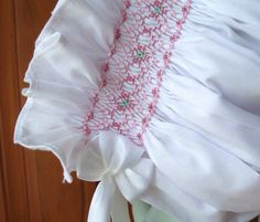 beautiful smocking, no pattern