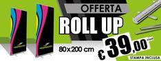 super offerta roll up - 80x200 cm - stampa inclusa a 39€  Espositore Roll Up, avvolgibile, intercambiabile. Espositore monofacciale con un eccezionale rapporto qualità prezzo. realizzato in alluminio con arrotolatore e profilo superiore per l'aggancio rapido della stampa.  #rollup #espositori #pubblicità #superofferta #solodasantorografica #inumeriuno
