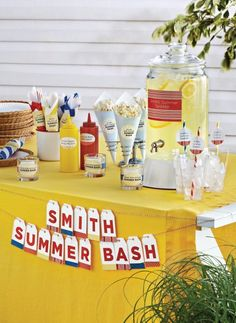 Great summer party ideas with Avery printables and products