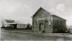 The Salvation Army Citadel on the corner of 51 St and 49 Ave, 1950 Now the site of the East portion of the Provincial Building, Red Deer, AB