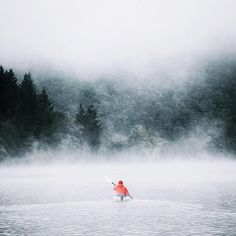Foggy morning Kayak in the mountains of Southern Germany  Photo: @pangeaproductions  #wildernessculture by wilderness_culture