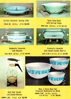 Pyrex spring gift promotion sets, 300 bowl set ~ 1960 Catalog listing