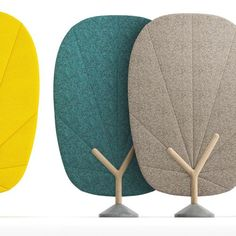 Products we like / Acoustic panel / Leaf Shape / Color Range / Product Design #productdesign
