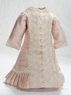 Pale Rose Fine Silk Princess Style Dress