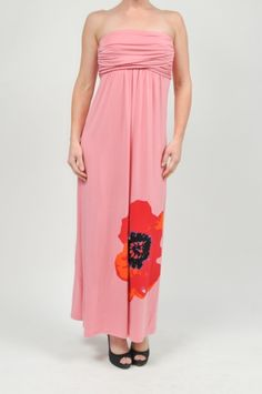 Pink Floral Border Dress www.shopmapel.com