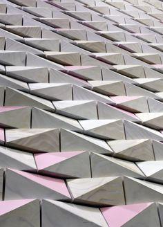 Unique Triangle Wall Design