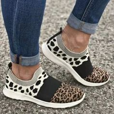 Leopard Flat Heel Dress Sneakers Burgundy Sneakers, Dress With Sneakers, Dress And Heels, Casual Sneakers, Sneakers Fashion, Fashion Shoes, Nike Fashion, Fashion Face, Fashion Accessories