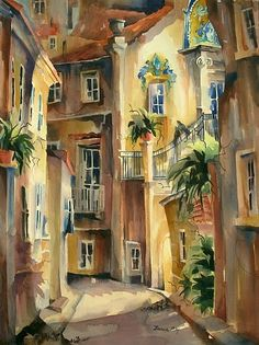 Beautiful Watercolors by Jinnie May, American Artist ~ Blog of an Art Admirer