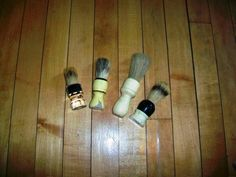 Vintage Shaving Brushes Set of 4 by RedRiverAntiques on Etsy, $20.00