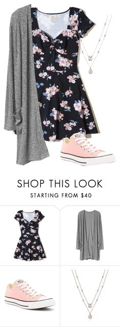 """Untitled #460"" by stilinskiismybatman ❤ liked on Polyvore featuring Hollister Co. and Converse"