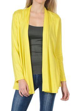 Long Sleeve Jersey Cardigan