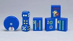 Royal #blue #mahjongg tiles for the Mah Jongg player in your house.