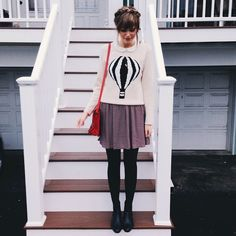 I want this hot air balloon sweater. Where can I get one....Love this outfit but needs a longer skirt! :)