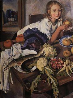 Zinaida Serebriakova - Katya with Vegetables, 1923