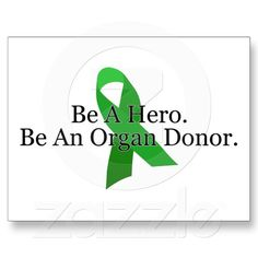 Bold Organ Donor Post Card