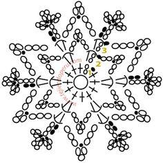copo de nieve crochet - crochet snowflake Más