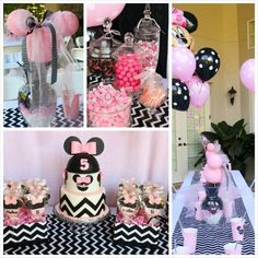 Minnie Mouse themed birthday party with Lots of Really Cute Ideas via Kara's Party Ideas | KarasPartyIdeas.com #minniemouseparty #minniemous...