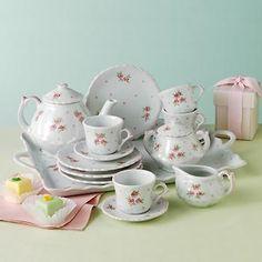 Ross-Simons - Children's Sweet Rose Porcelain Tea Set - #860040