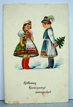 Christmas Time, Christmas Cards, Christmas Decorations, Xmas, Hungarian Women, Hungarian Recipes, Village Girl, Folk Dance, Budapest