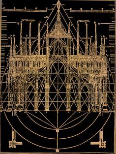 """Latent Geometery in ecclesiastical gothic architecture; from """"The beautiful ne… Latent Geometery in ecclesiastical gothic architecture; from """"The beautiful necessity; seven essays on theosophy and architecture"""" by Claud Fayette Bragdon, Classic Architecture, Architecture Drawings, Gothic Architecture, Historical Architecture, Architecture Details, Cathedral Architecture, Religious Architecture, Die Renaissance, Gothic Art"""