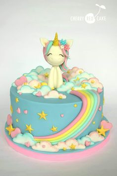 Unicorns, Princess Peach, Birthday Cake, Rainbow, Events, Cakes, Party, Desserts, Food Cakes