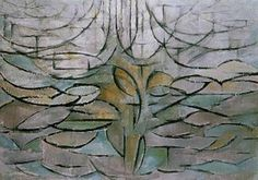 Piet Mondriaan, De bloeiende appelboom, 1912, Gemeentemuseum, Den Haag