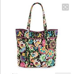Disney Vera Bradley tote Large Vera Bradley Tote in Midnight with Mickey pattern. Used only once! In perfect condition!! Vera Bradley Bags Totes