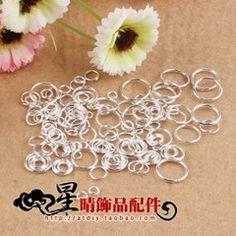 Серебряный круг поделки ювелирных материалов аксессуары ручной работы из бисера пряжки соединительное кольцо
