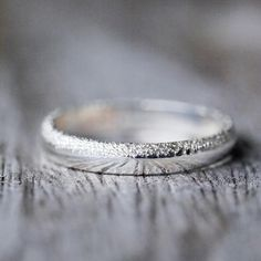 Wabi Sabi // Organic Wedding Band for Her Every single dot is hammered by hand with strength and precision, to create an interesting distressed texture.