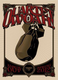 The Quartet of Woah! poster by Pedro Semeano ~ www.facebook.com/graphicallegiance