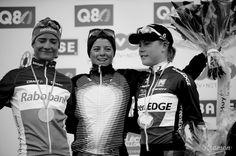 REFLECTIONS FROM THE ARDENNES CLASSICS - Women's Fleche Wallonne podium: 1. Evelyn Stevens 2. Marianne Vos 3. Linda Villumsen!
