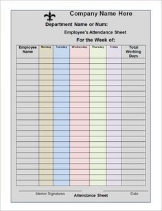 How To Keep Record Of Employee Attendance Microsoft Excel Template - Attendance tracker template