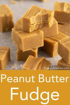 This ultra-delicious, silky peanut butter fudge recipe from Preppy Kitchen is beyond easy to make, and simply melts in your mouth for an amazing salty-sweet treat. #peanutbutterfudge #bestfudge #holidayfudge
