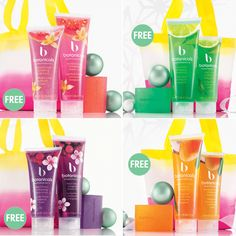Choose your great value fruity festive set - contains shower gel, body scrub and soap for just $28.00 plus free sunrise bag..........in four fragrances