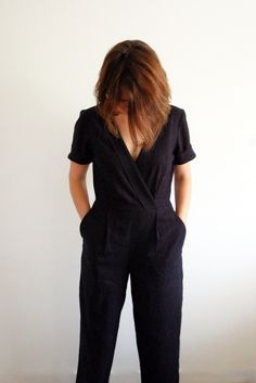 One pattern, two hacks + Sew Social GiveawayYou can find Jumpsuit pattern and more on our website.One pattern, two hacks + Sew Social Giveaway Romper Pattern, Jumpsuit Pattern, Jacket Pattern, Sewing Patterns Free, Clothing Patterns, Dress Patterns, Vogue Patterns, Vintage Patterns, Vintage Sewing