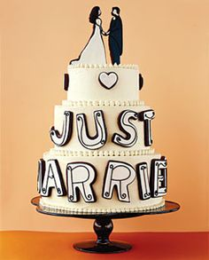 Cake with cookie letters