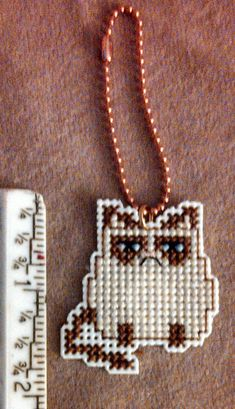 Unhappy Kitty Grumpy Cat Cross stitch by StitchDifferent on Etsy, $6.00