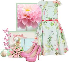 """""""Spring In Pink"""" by weeyz ❤ liked on Polyvore"""