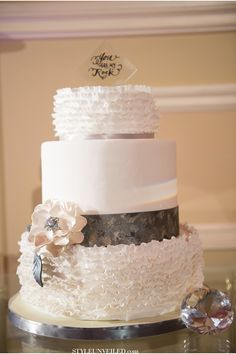 wedding cake by Charm City Cakes West / Studio EMP Wedding Photography  / via StyleUnveiled.com