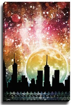 Moonrise by Jenndalyn Graphic Art on Canvas