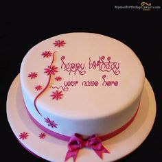 Write Name On Happy Birthday Chocolate Cake With Name Edit And Photo