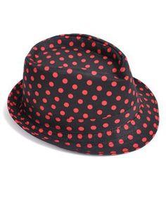 7ef34367294 Peppy Polka Dot Pattern Fedora Hat