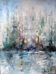 "Saatchi Art Artist Konrad Biro; Painting, ""Sailboats and sea mist......."" #art"