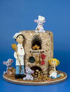 Ooops....mice in the bakery! ;-) - by leonietje @ CakesDecor.com - cake decorating website