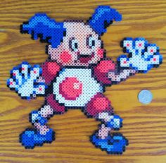 Pokemon Mr. Mime 10 x 10 Perler Bead Sprite by GamingBeads on Etsy