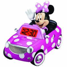 "Minnie Mouse Bow-tique Alarm Clock - eKids - Toys""R""Us. Minnie Mouse Car, Minnie Mouse Nursery, Disney Mickey Mouse, Disney Rooms, Kids Store, Toys R Us, Baby Car Seats, Alarm Clocks, Bedroom Ideas"