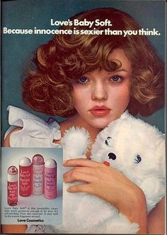 Hypersexualization of young girls in vintage ads....and it's still happening, what is wrong with this country?